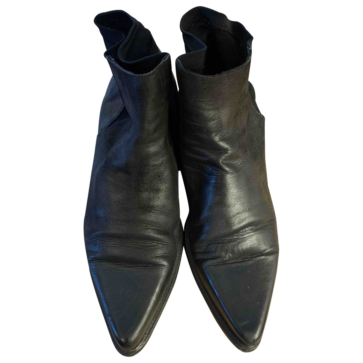 Non Signé / Unsigned N Black Leather Boots for Men 42 IT