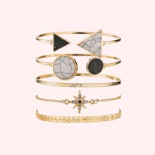 5pcs Arrow & Star Decor Bracelet