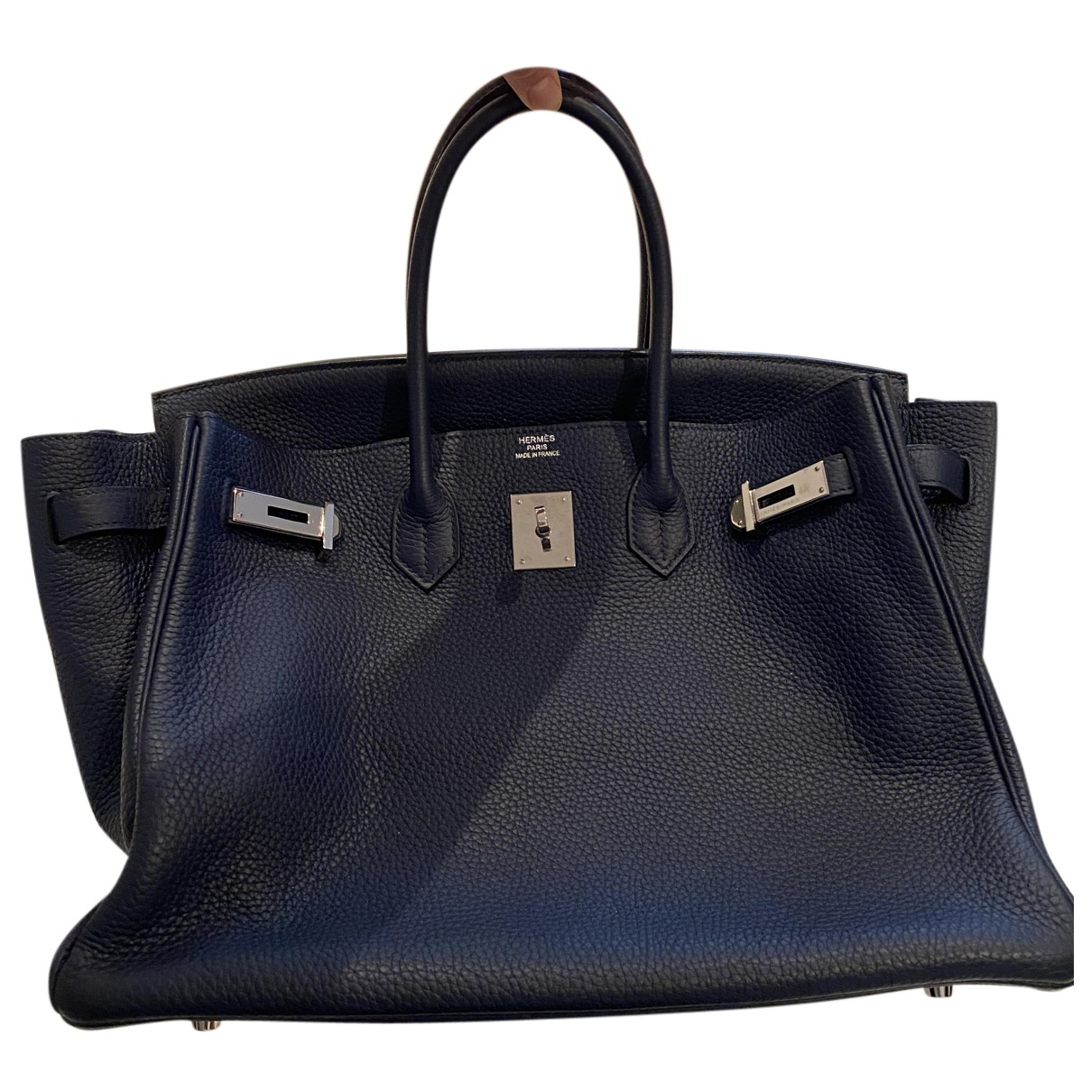 Hermès Birkin 35 Blue Pony-style calfskin handbag for Women N