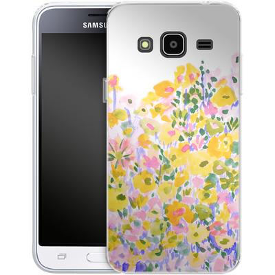 Samsung Galaxy J3 (2016) Silikon Handyhuelle - Flower Fields Sunshine von Amy Sia