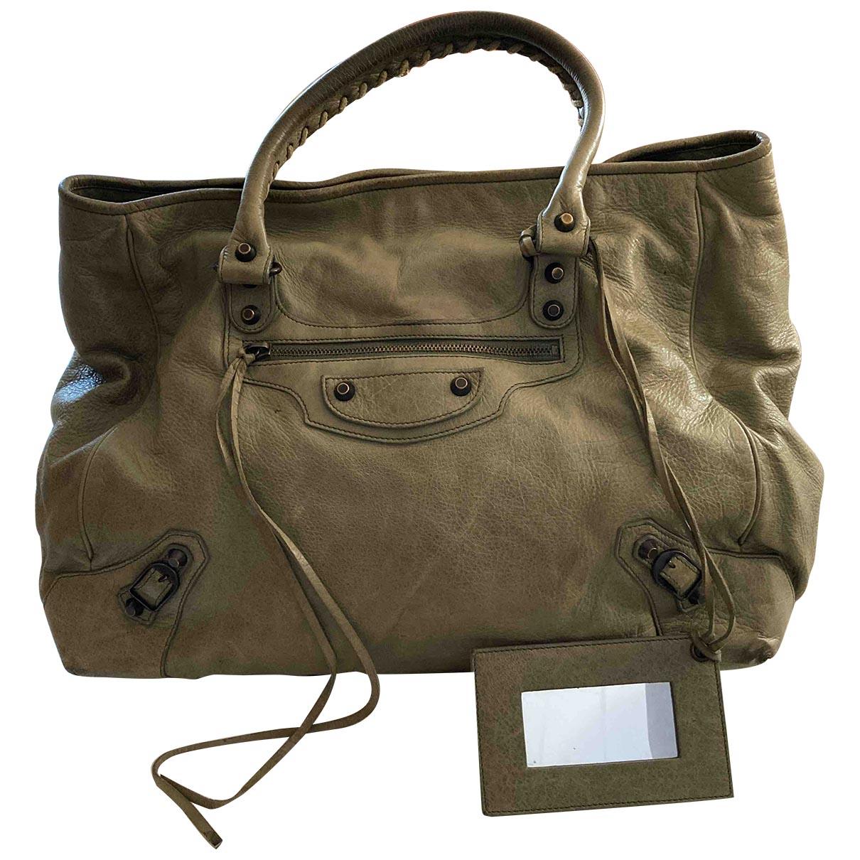 Balenciaga City Handtasche in  Gruen Leder