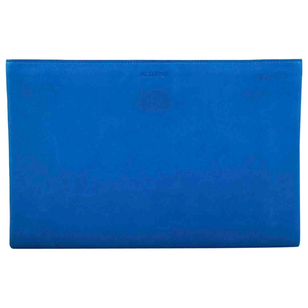 Jil Sander \N Clutch in  Blau Leder