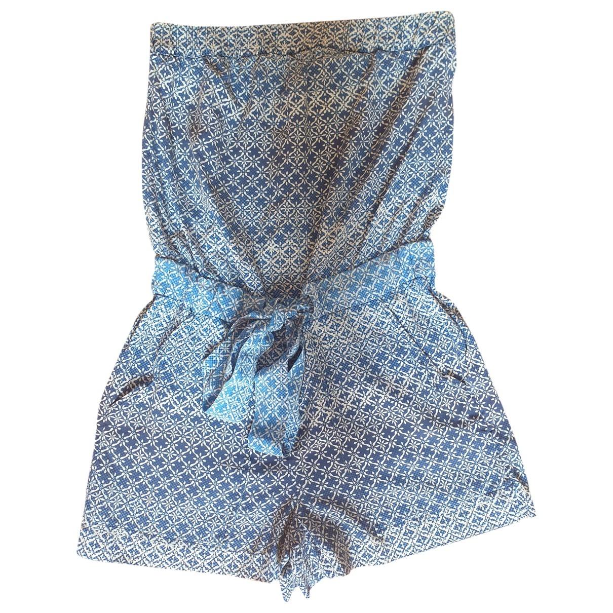 Diane Von Furstenberg - Combinaison   pour femme en soie - bleu