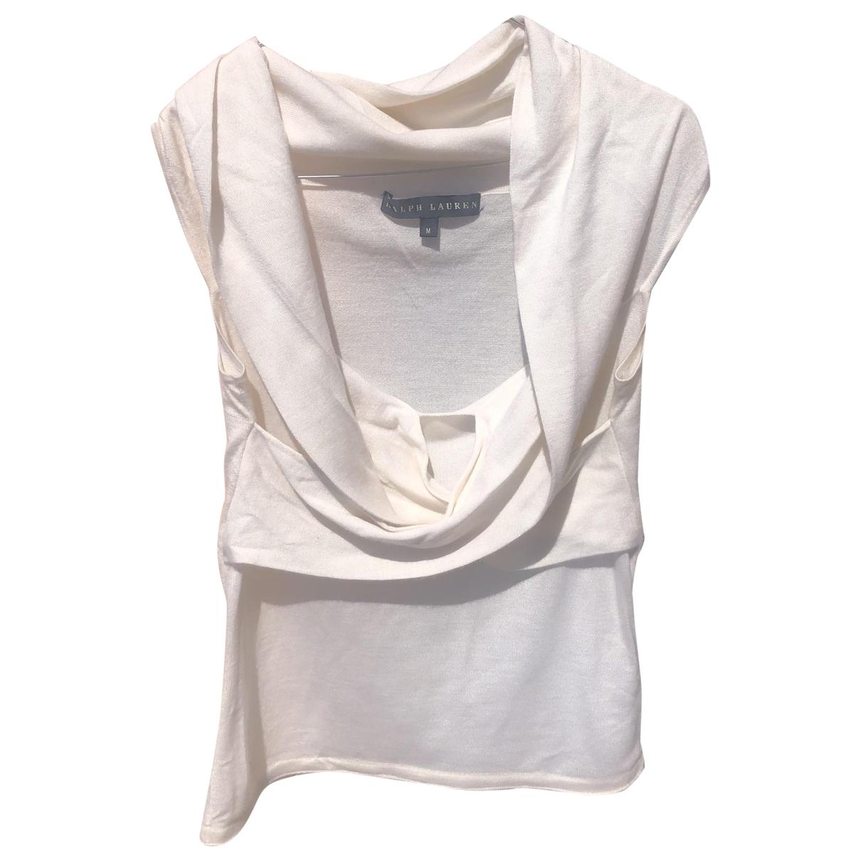 Ralph Lauren - Top   pour femme en cachemire - blanc