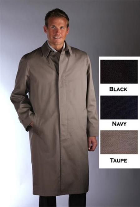 Single Breasted Classic Poplin RaincoatTrench Coat Taupe