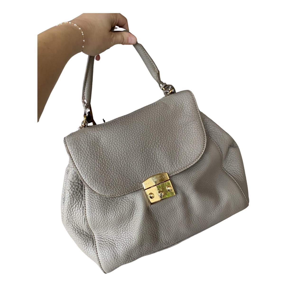 Mac Douglas - Sac a main   pour femme en cuir - gris