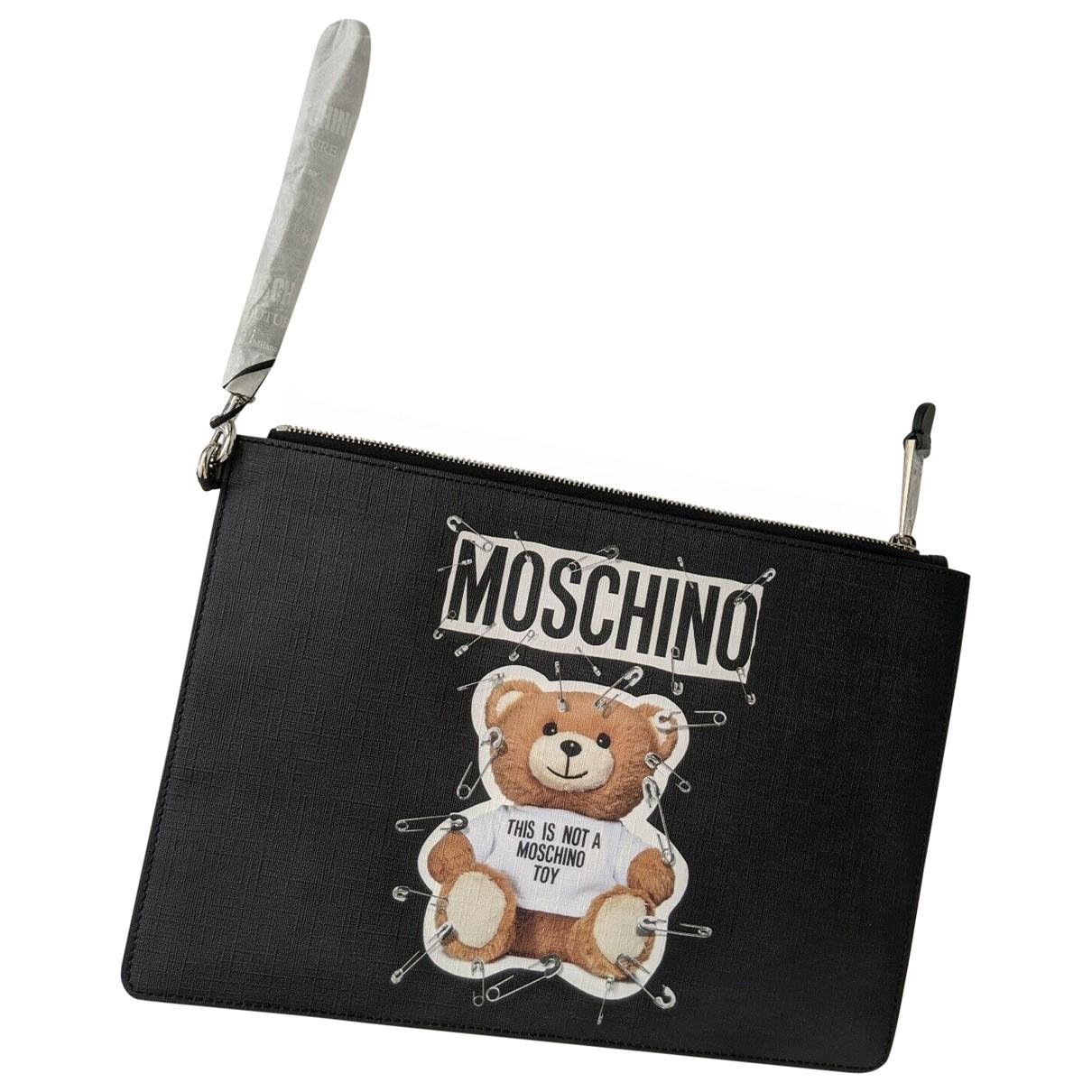Moschino \N Black Leather Clutch bag for Women \N