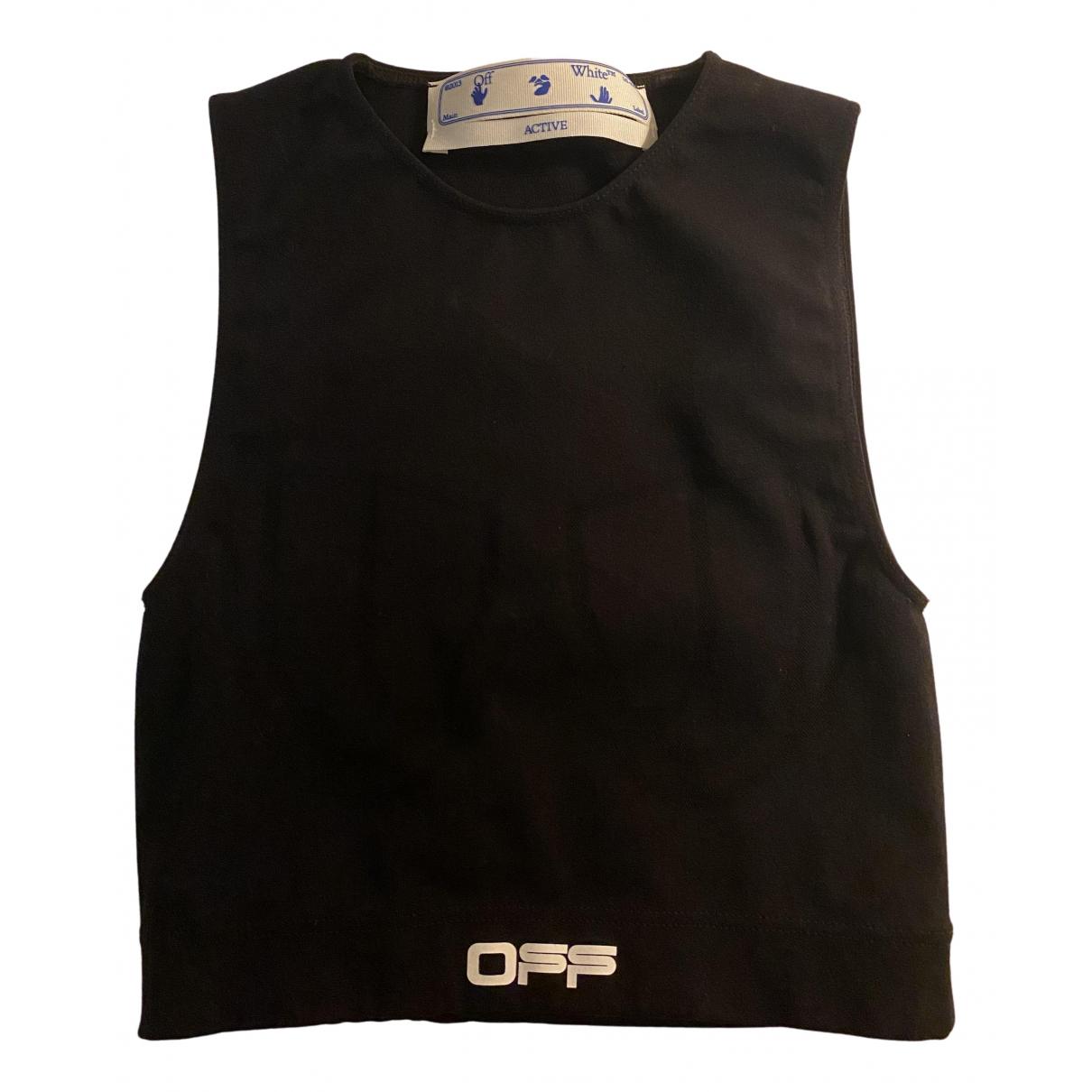 Off-white \N Top in  Schwarz Polyester