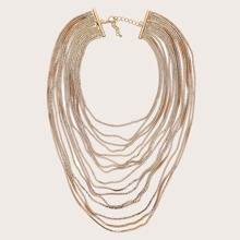 1pc Metal Chain Layered Necklace