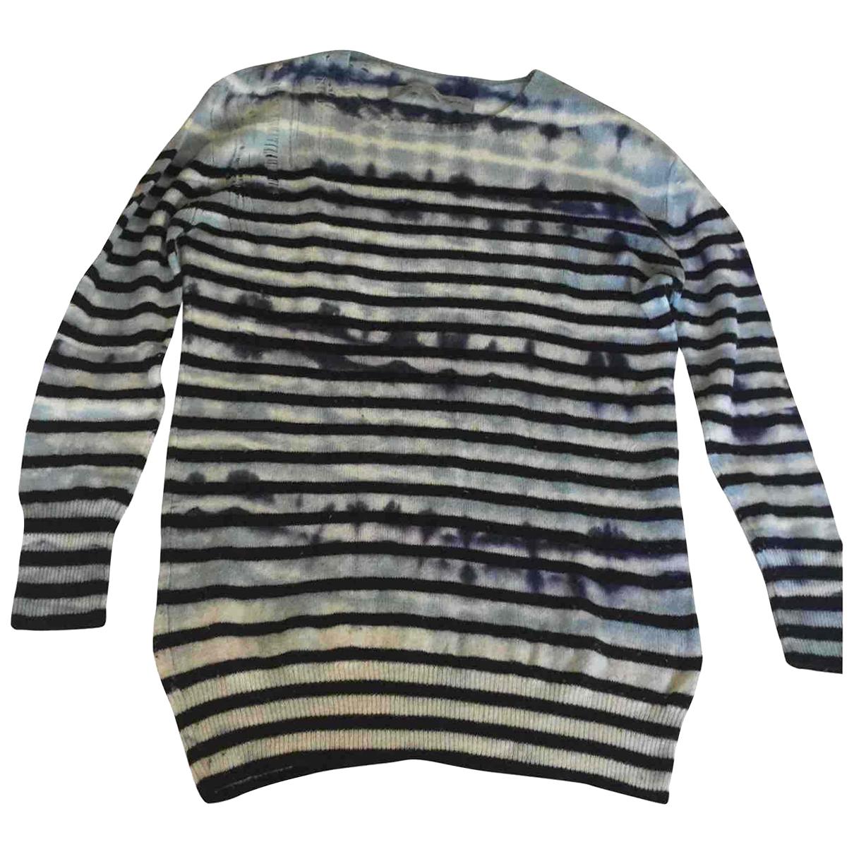 Raquel Allegra \N Pullover in  Blau Wolle