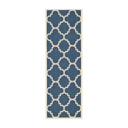 Safavieh Courtyard Collection Gina Geometric Indoor/Outdoor Runner Rug, One Size , Multiple Colors