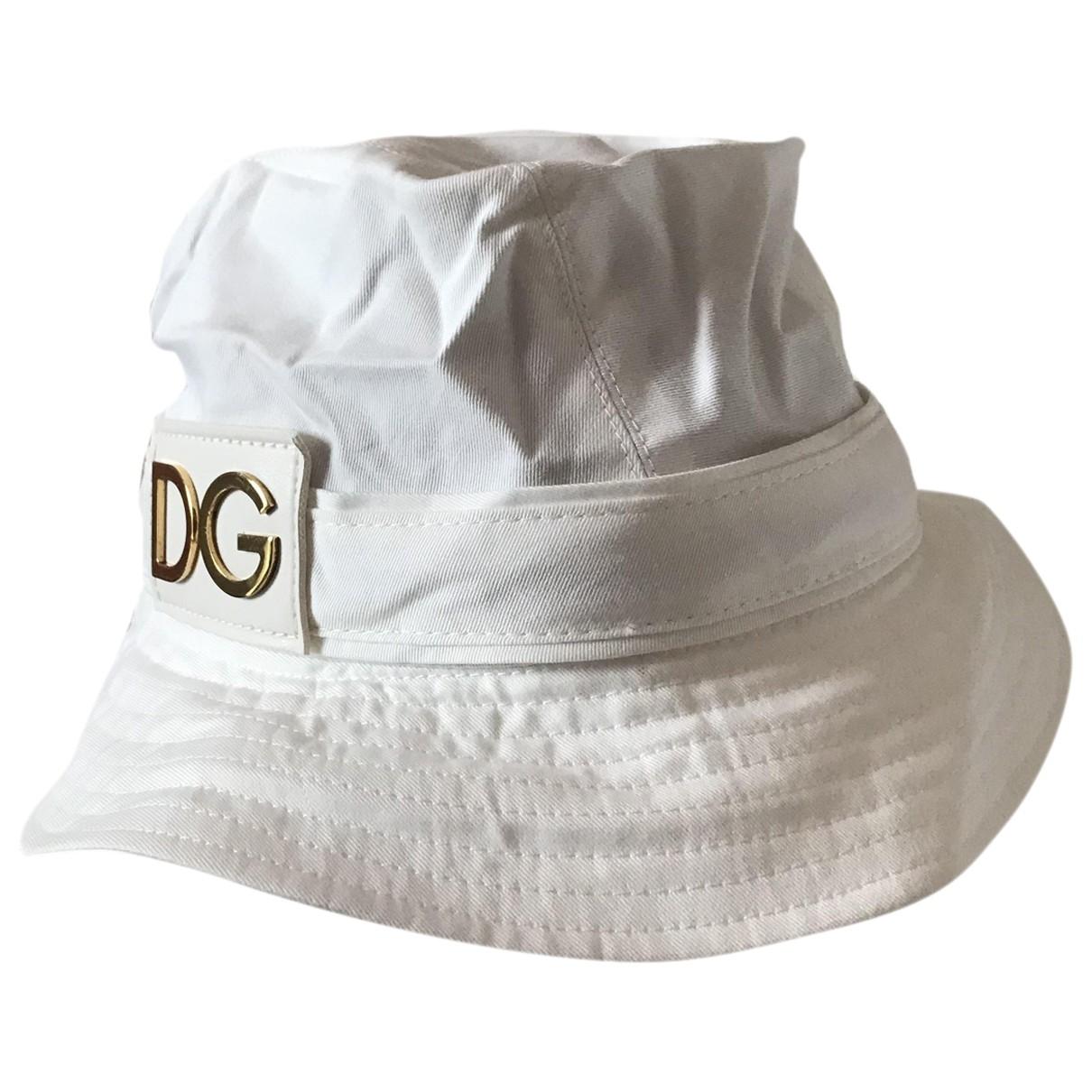 Sombreros en Algodon Blanco Dolce & Gabbana