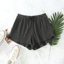 Slant Pocket Drawstring Waist Shorts