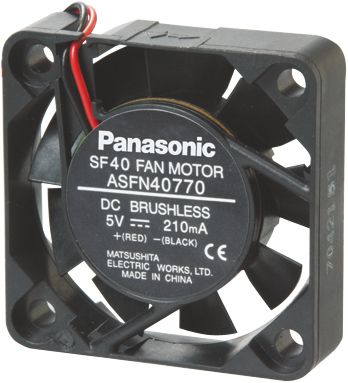 Panasonic , 12 V dc, dc Axial Fan, 40 x 40 x 10mm, 0.17m³/min, 1.2W