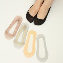 5 Paare Socken mit niedrigem Schnitt und Spitze