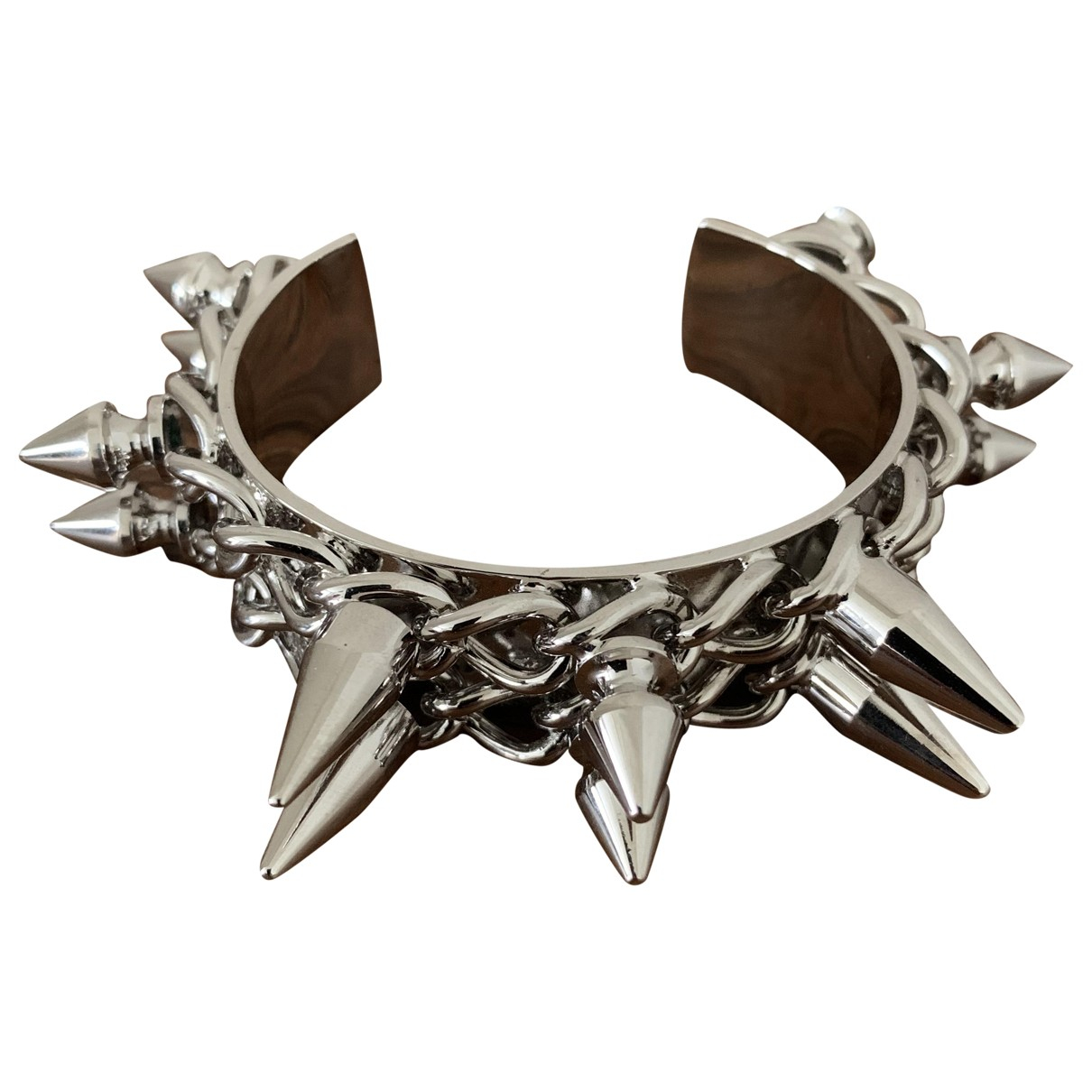 Burberry - Bracelet   pour femme en metal - argente