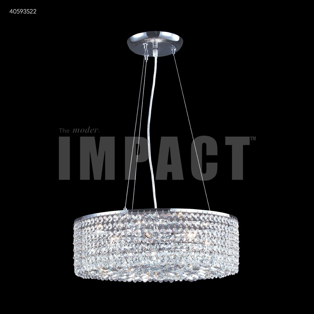 James R. Moder 40593S22 Six Light Chandelier Contemporary Silver - One Size (One Size - Clear)