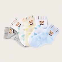 5 Paaree Kleinkind Jungen Baerenmuster Socken