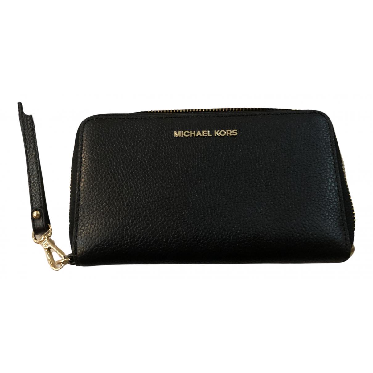 Michael Kors - Portefeuille   pour femme en cuir - noir