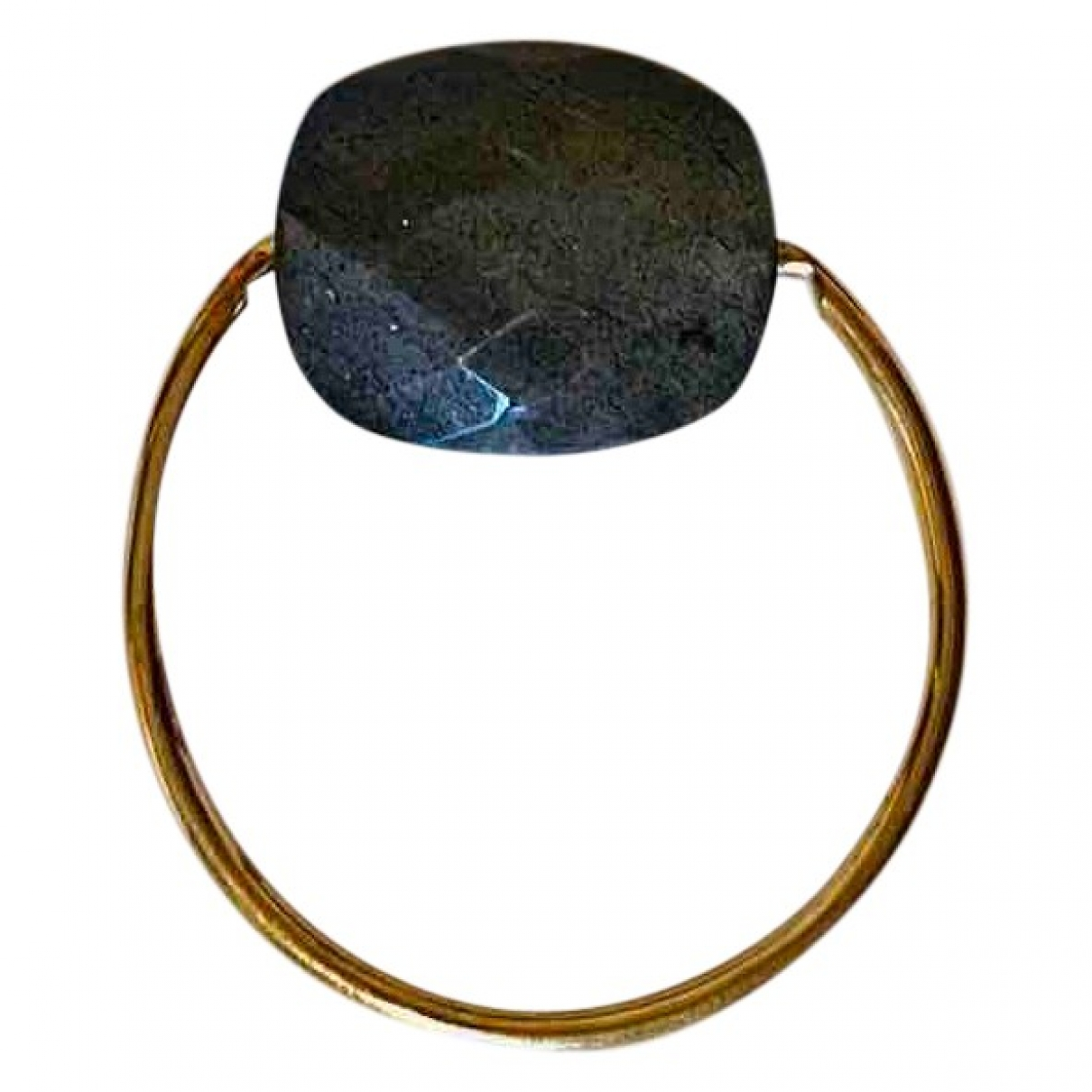 Morganne Bello Friandise Ring in  Anthrazit Gelbgold