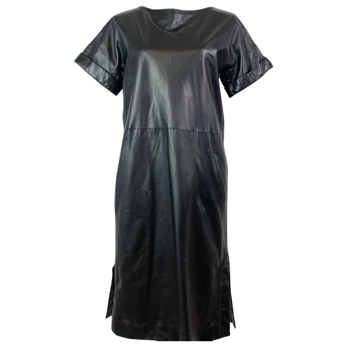 Osman London \N Kleid in  Schwarz Leder