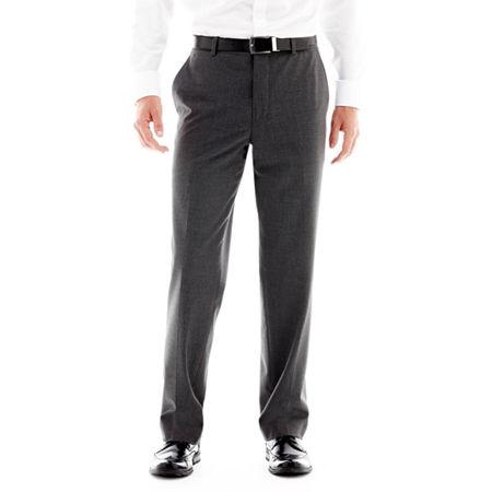 Men's JF J. Ferrar Stretch Gabardine Flat-Front Straight-Leg Classic Fit Suit Pants, 29 32, Black
