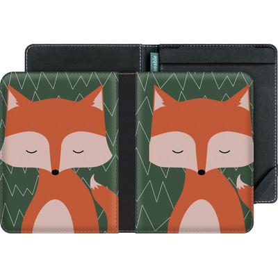 tolino vision 3 HD eBook Reader Huelle - Fox on Green von caseable Designs
