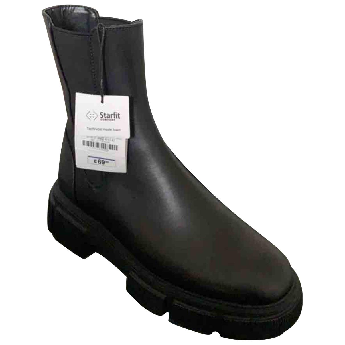 Zara \N Stiefel in  Schwarz Leder
