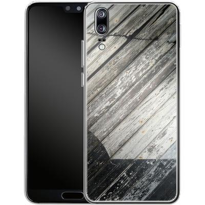 Huawei P20 Silikon Handyhuelle - Diagonal Wood von Brent Williams