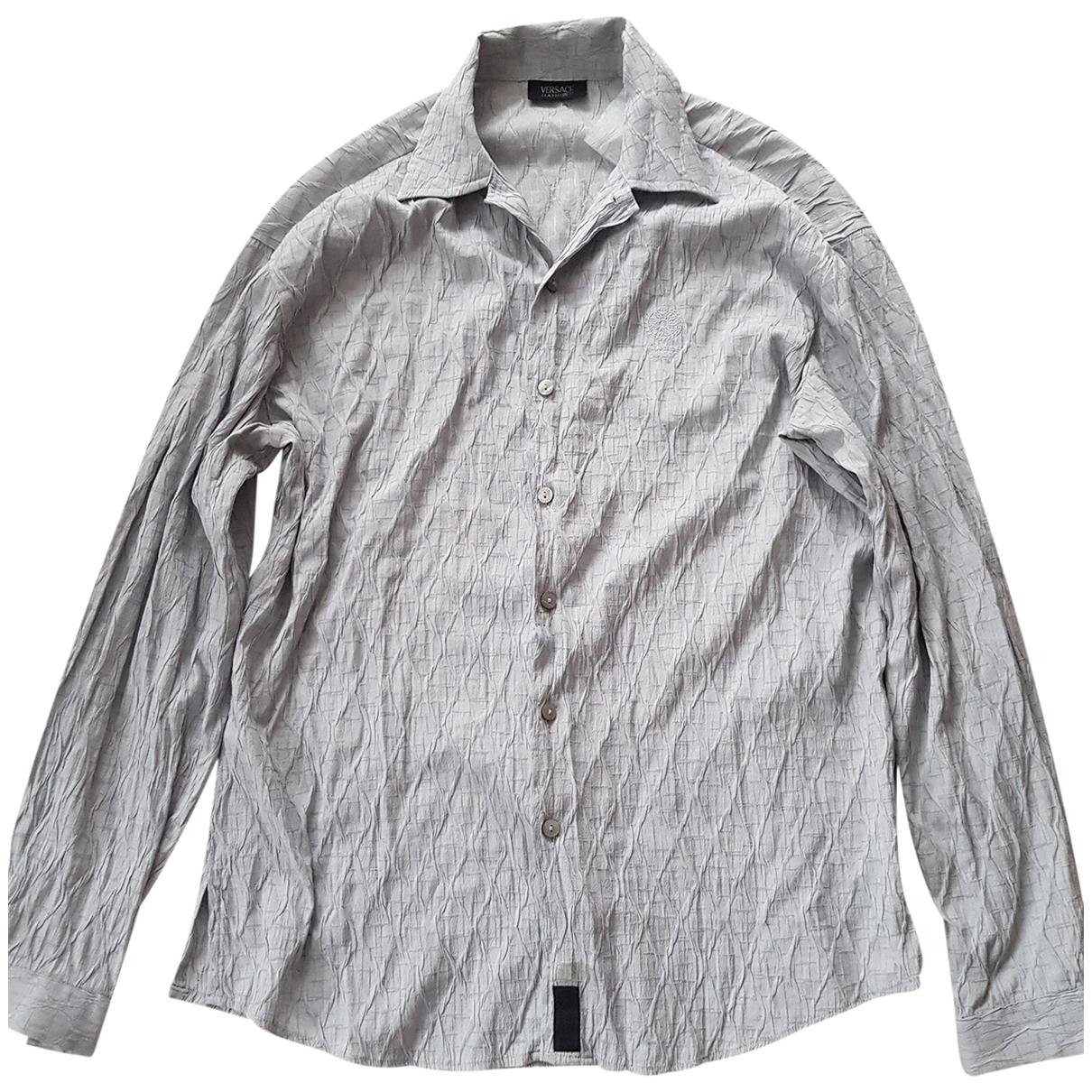 Versace \N Hemden in  Grau Viskose