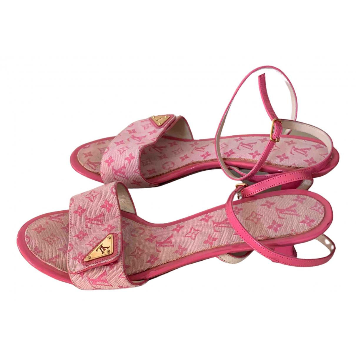 Louis Vuitton - Sandales   pour femme en toile - rose