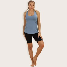 Cut-out Racer Back Sports Tank Top