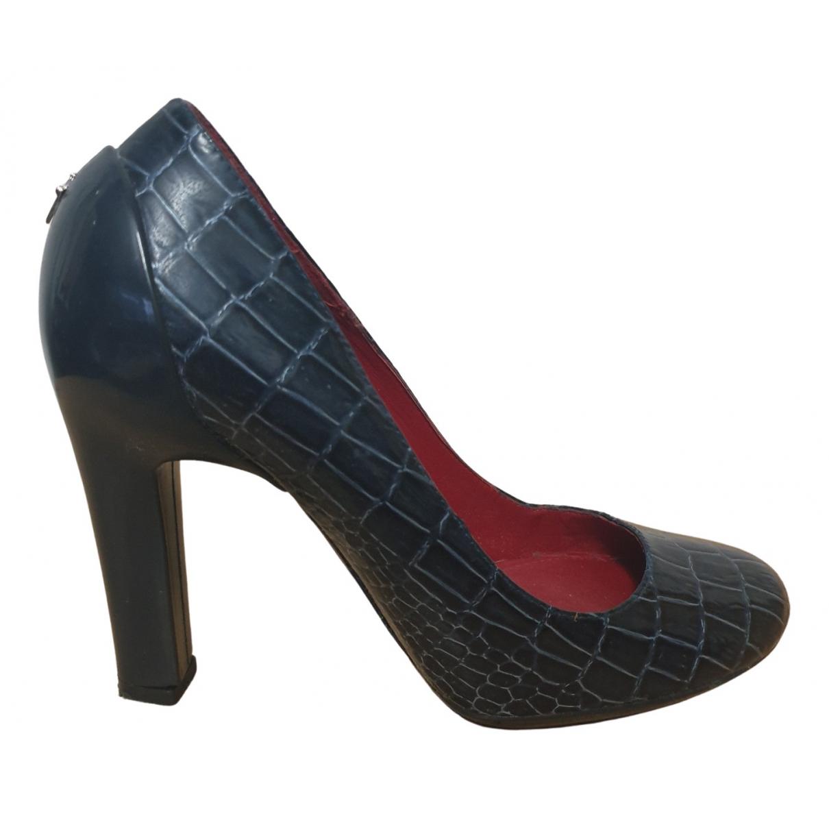 Cesare Paciotti \N Blue Leather Heels for Women 36 EU