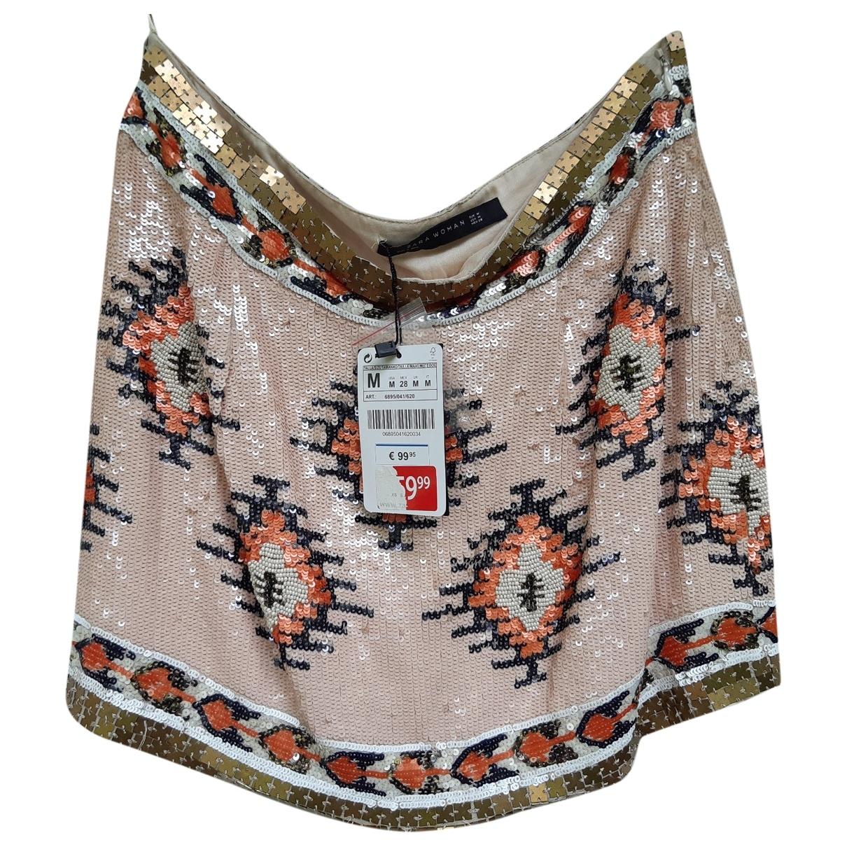 Zara - Jupe   pour femme en soie