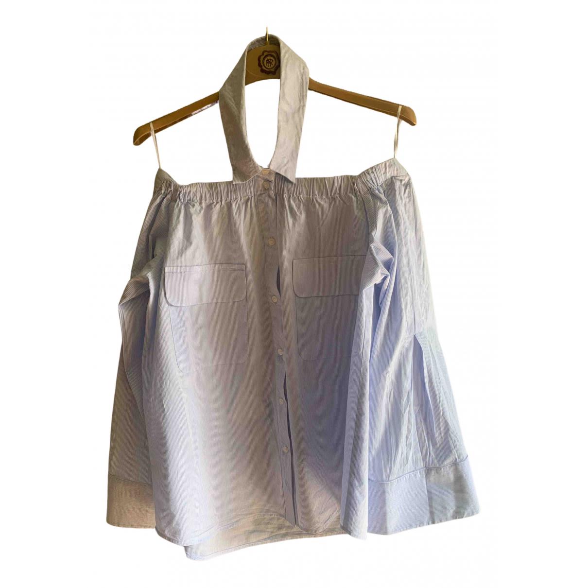Pinko - Top   pour femme en coton - bleu