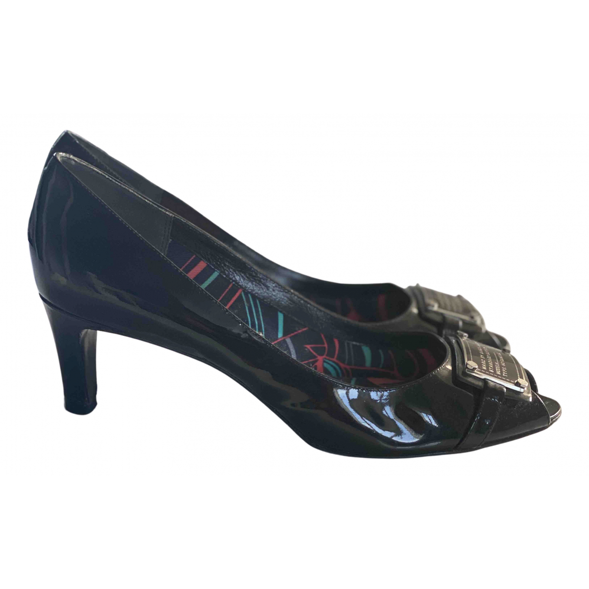Marc By Marc Jacobs N Black Patent leather Heels for Women 40 EU