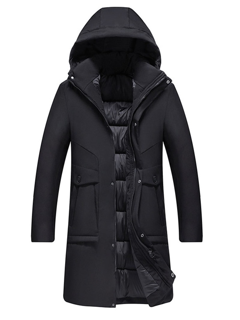 Ericdress Plain Hooded Casual Men's Down Jacket