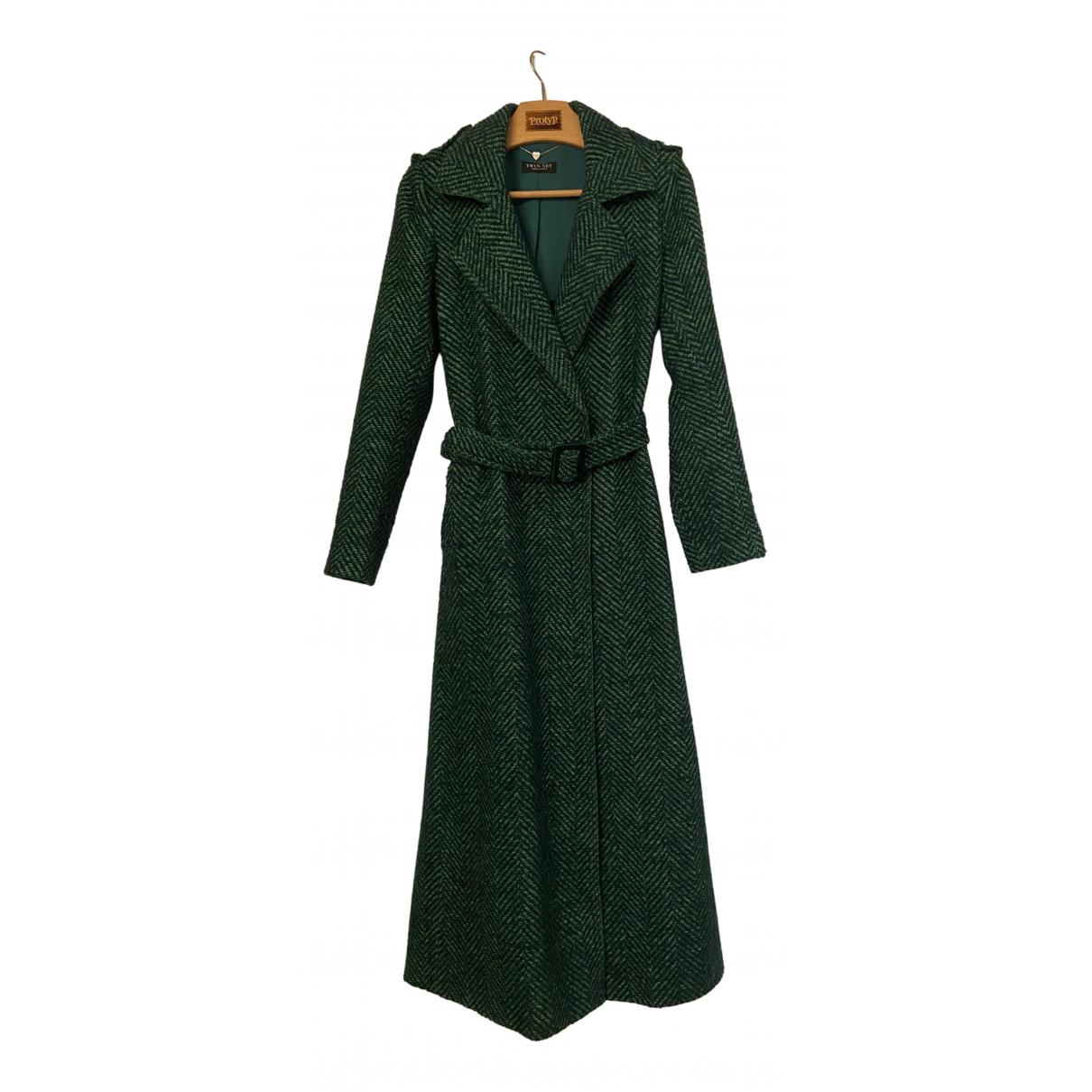 Twin Set N Green Wool coat for Women M International