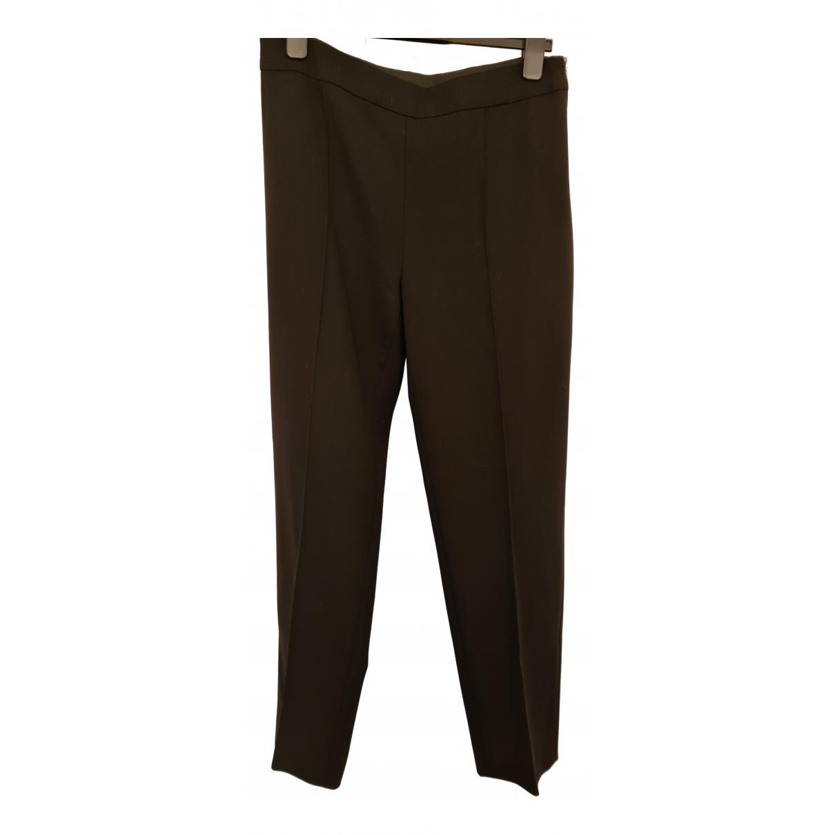 Max Mara N Black Wool Trousers for Women 42 FR