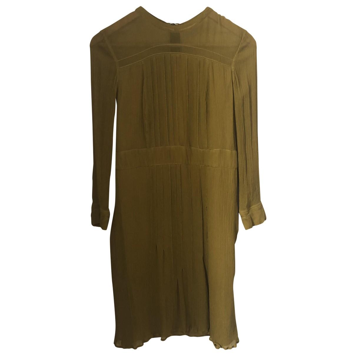 Burberry - Robe   pour femme en soie - jaune