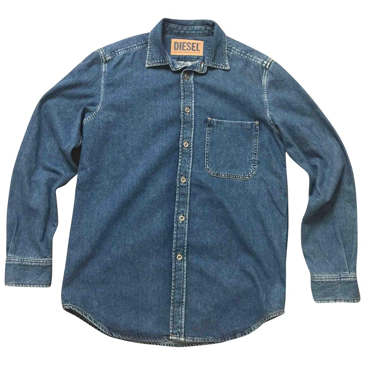 Diesel \N Blue Denim - Jeans Shirts for Men S International