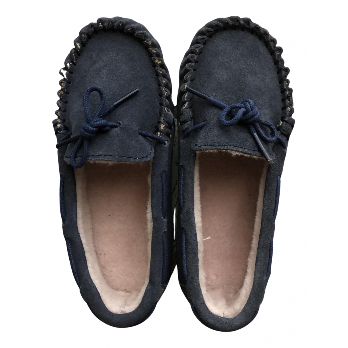 Emu Australia N Blue Suede Flats for Kids 28 FR