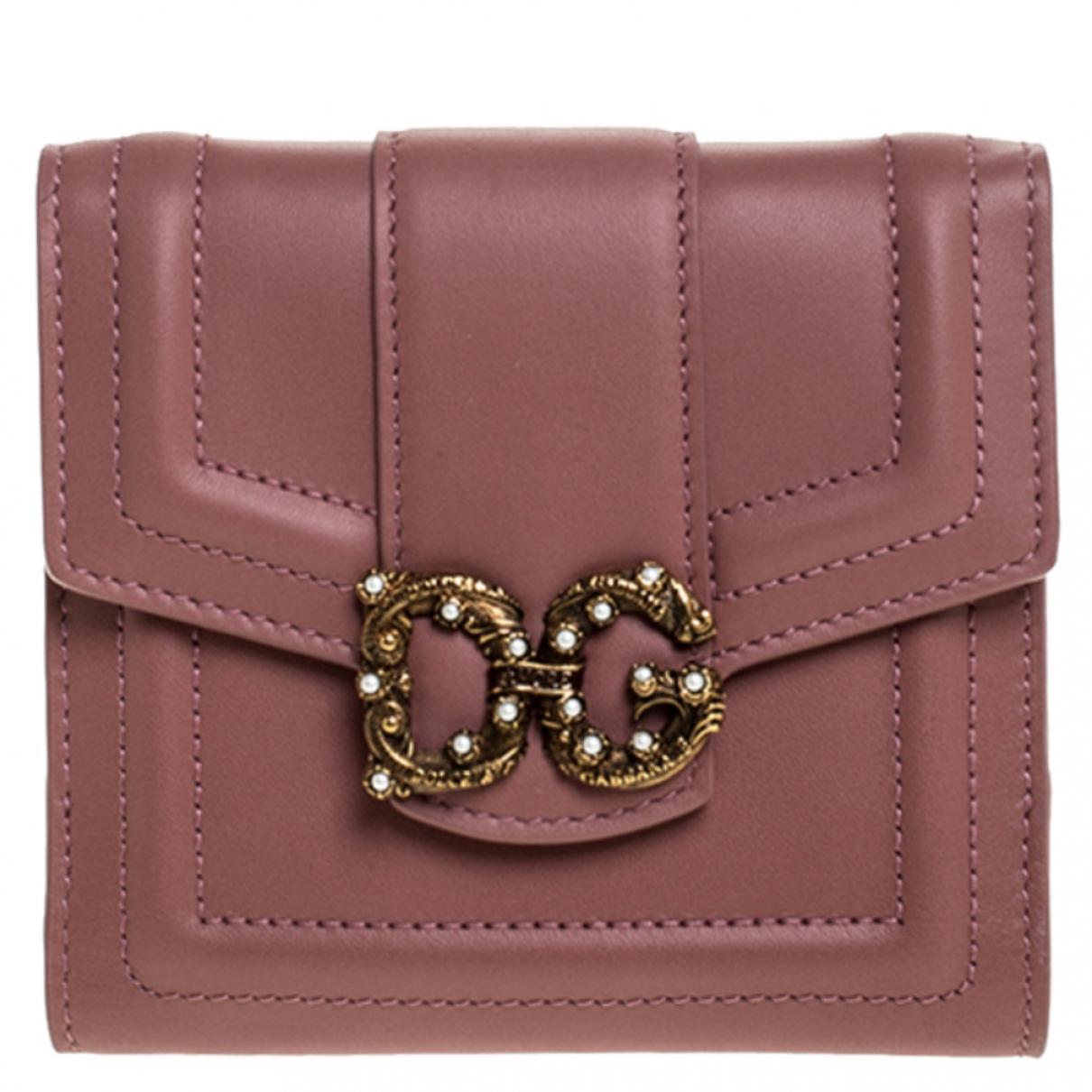 Dolce & Gabbana \N Portemonnaie in Leder