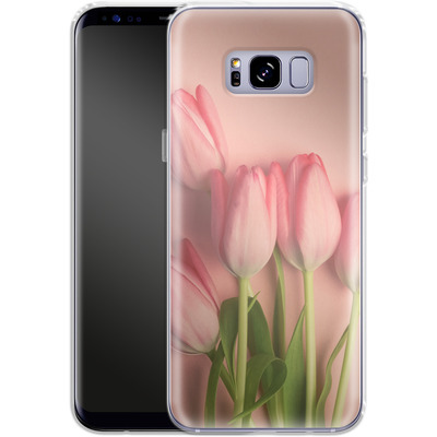 Samsung Galaxy S8 Plus Silikon Handyhuelle - Pink Tulips von Joy StClaire