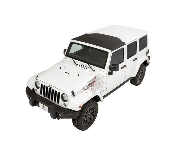Bestop 52453-17 Black Twill Sunrider for Hardtop Jeep Wrangler 2007-2018
