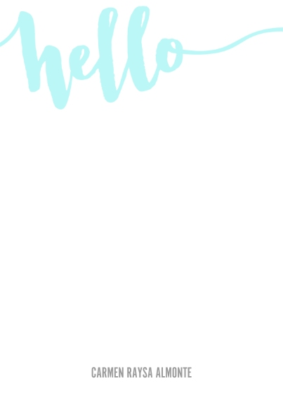 For Her 5x7 Personal Stationery, Card & Stationery -Hello Script