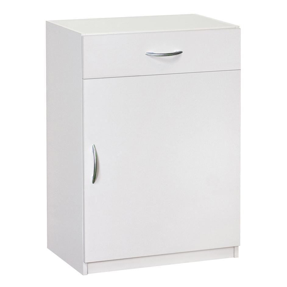 Flat Panel Base Cabinet, White