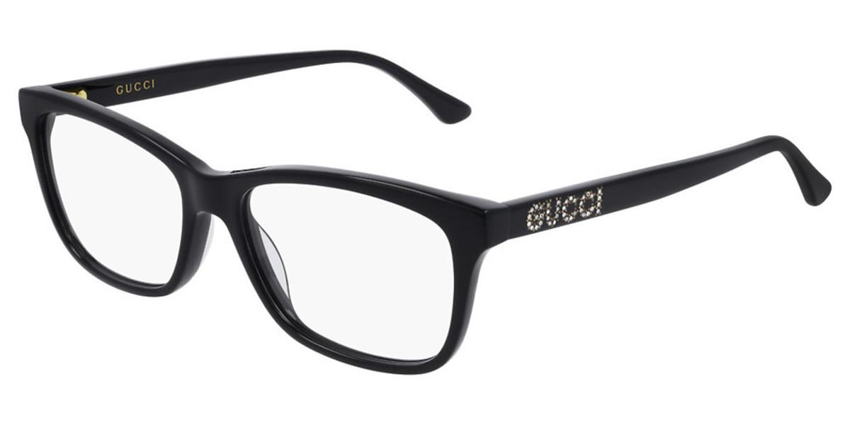 Gucci GG0731O 001 Women's Glasses Black Size 53 - Free Lenses - HSA/FSA Insurance - Blue Light Block Available