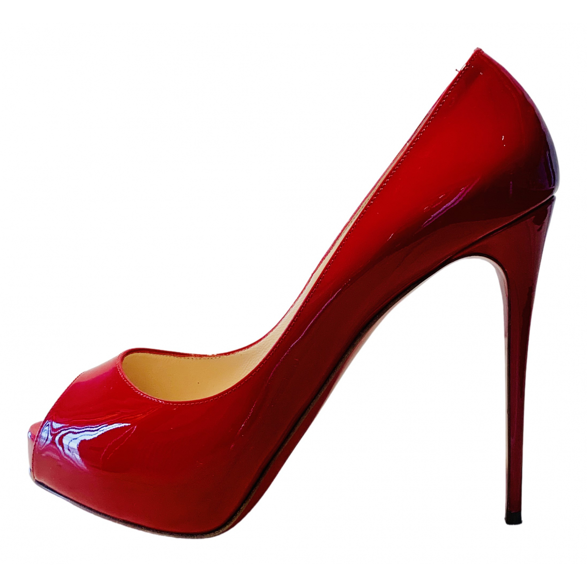 Christian Louboutin Very Privé Red Patent leather Heels for Women 40.5 EU