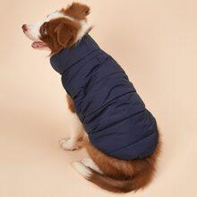 Mantel mit Kontrast Futter fuer Hunde